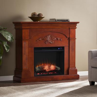 Sicilian Electric Fireplace - Mahogany