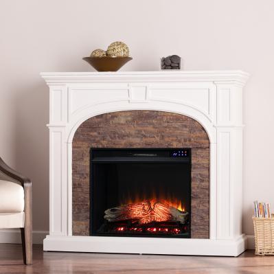 Tanaya Electric Fireplace w/ Faux Stone