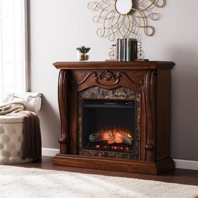 Cardona Electric Fireplace w/ Faux Marble