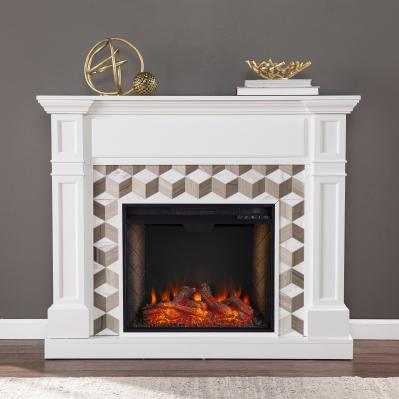 Darvingmore Alexa Smart Fireplace w/ Marble Surround