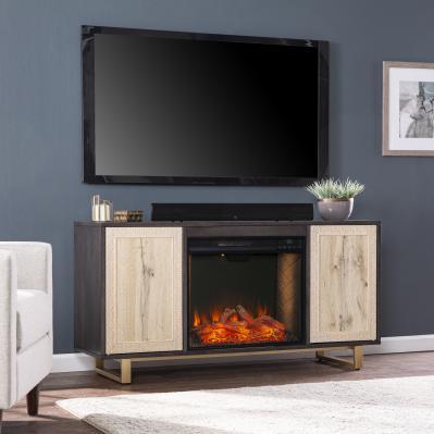 Wilconia Alexa Smart Media Fireplace w/ Carved Details