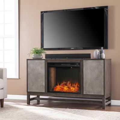 Lannington Alexa Smart Fireplace w/ Media Storage