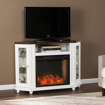 Dilvon Smart Fireplace w/ Media Storage