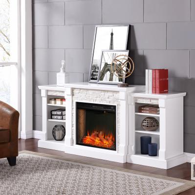 Gallatin Alexa-Enabled Smart Bookcase Fireplace