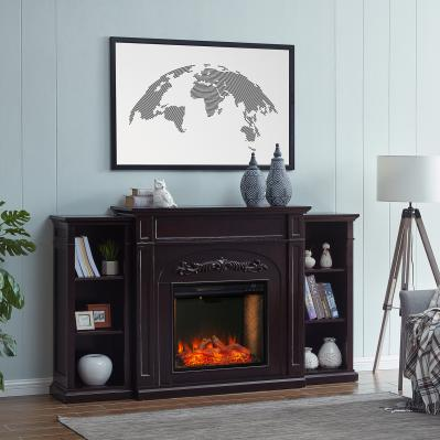 Chantilly Smart Fireplace w/ Bookcases