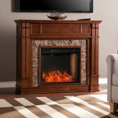 Highgate Electric Alexa Smart Media Fireplace - Whiskey Maple