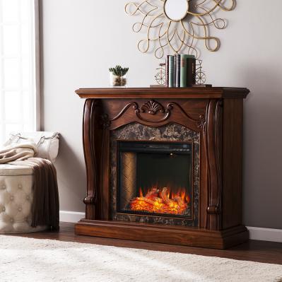 Cardona Smart Fireplace w/ Faux Marble