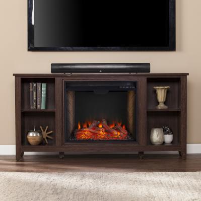 Parkdale Smart Fireplace w/ Storage - Espresso