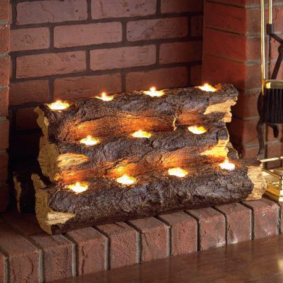 Resin Tealight Fireplace Log