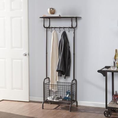 Renfro Metal Entryway Storage Rack