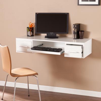 Simon Wall Mount Desk - White