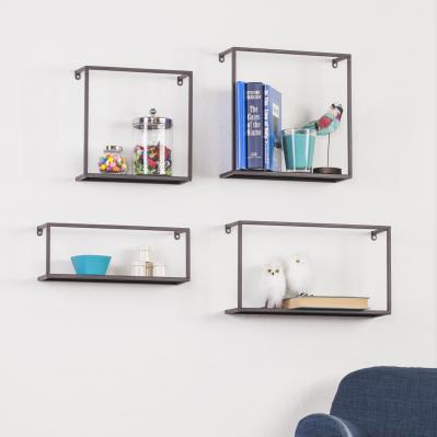 Holly & Martin Zyther Metal Wall Shelves - 4Pc Set