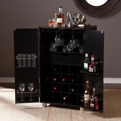 Cape Town Contemporary Bar Cabinet - Black