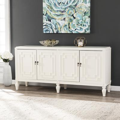 Tropman Antique White Low-Profile Accent Cabinet