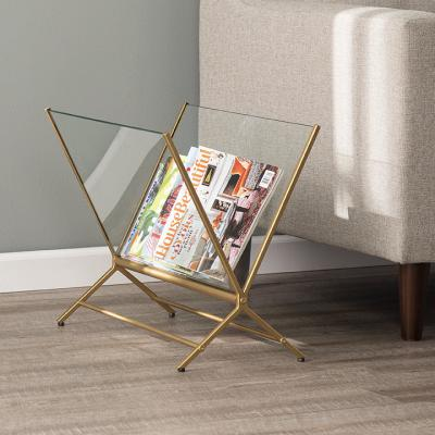 Norilynn Contemporary Glass Magazine Holder