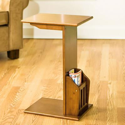 Magazine Snack Table - Mission Oak
