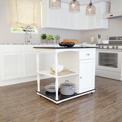 Muxlow Rolling Kitchen Island w/ Storage