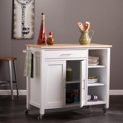 Martinville Kitchen Cart - White