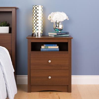 Riverdale 2-Drawer Nightstand, Warm Cherry