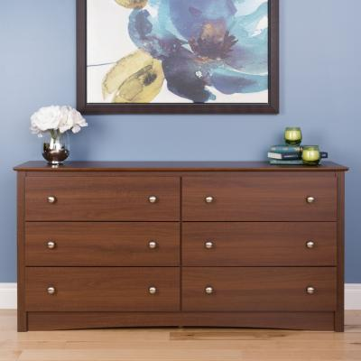 Riverdale 6 Drawer Chest, Warm Cherry