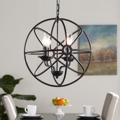 Orlie 4-Light Fixed Globe Pendant Lamp