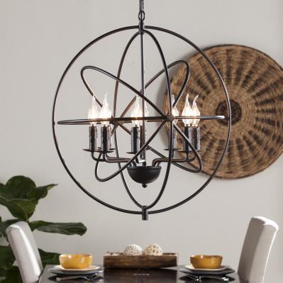 Stilaro 8-Light Atomic Globe Pendant Lamp