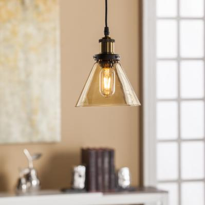 Carina Colored Glass Mini Pendant Lamp - Amber
