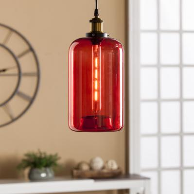 Coraline Colored Glass Mini Pendant Lamp - Red