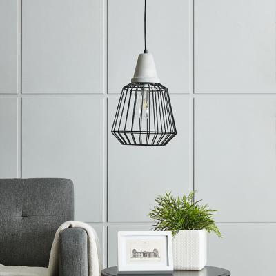 Brayonne Black Cage Pendant Lamp