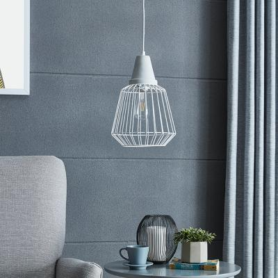 Brayonne White Cage Pendant Lamp