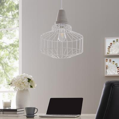 Brantville White Cage Pendant Lamp