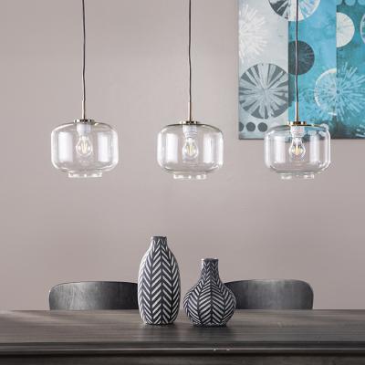 Alandari Glass Pendant Lamps - 3pc Set