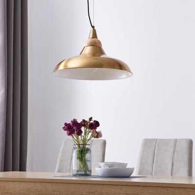 Beldon Metal and Wood Pendant Light