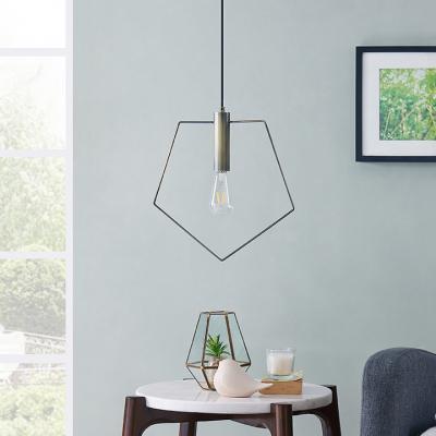 Cavazo Geometric Wire Light Fixture