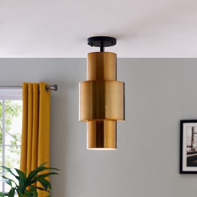 Hanlan Art Deco Semi-Flush Mount Lamp