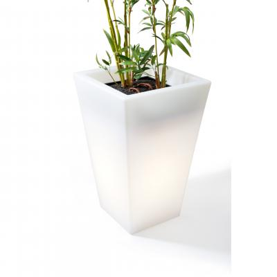 Hugo Pot Tall - White (with outdoor cord, and waterdrain system)