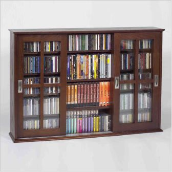 Triple Sliding Door Mission Style Media Cabinet