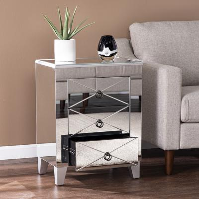 Cresheim Mirrored End Table w/ Drawers