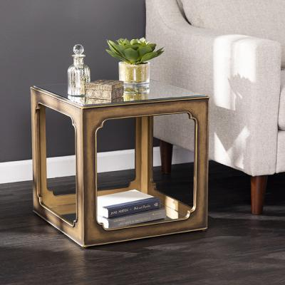 Alfriston Mirrored Square Accent Table