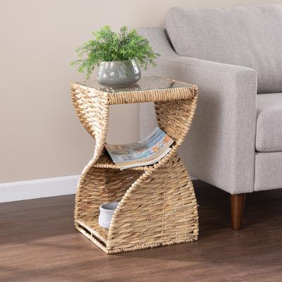 Nivala Water Hyacinth Accent Table