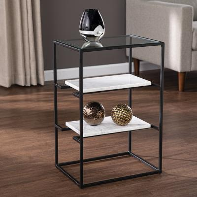 Paignton Glass-Top End Table w/ Storage