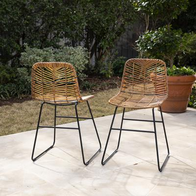 Ragalto Pair of All-Weather Rattan Outdoor Chairs