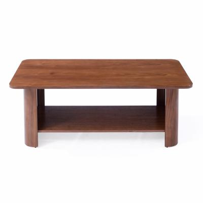 Curved Wood Coffee Table
