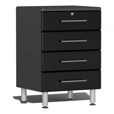 Ulti-MATE Garage 2.0 Series 4-Drawer Base Cabinet Midnight Black