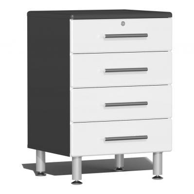 Ulti-MATE Garage 2.0 Series 4-Drawer Base Cabinet Starfire White Metallic