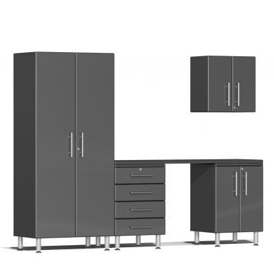 Ulti-MATE Garage 2.0 Series 5-Piece Kit with Workstation Graphite Grey