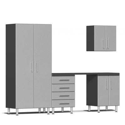 Ulti-MATE Garage 2.0 Series 5-Piece Kit with Workstation Stardust Silver Metallic