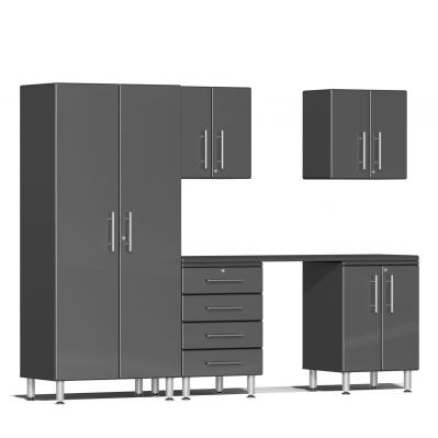 Ulti-MATE Garage 2.0 Series 6-Piece Kit with Workstation Graphite Grey