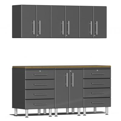 Ulti-MATE Garage 2.0 Series 7-Piece  Workstation Kit Graphite Grey