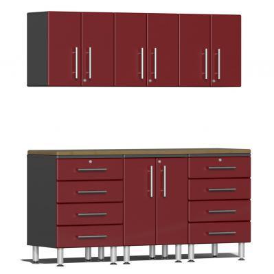Ulti-MATE Garage 2.0 Series 7-Piece  Workstation Kit Ruby Red Metallic